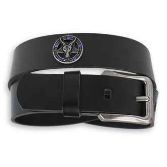 ceinture Baphomet - Black krystal - bleu, JM LEATHER