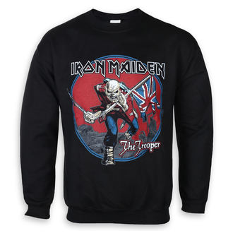 sweat-shirt sans capuche pour hommes Iron Maiden - Trooper Red Sky - ROCK OFF, ROCK OFF, Iron Maiden