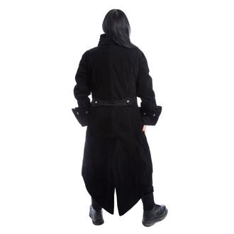 Manteau pour hommes POIZEN INDUSTRIES - PIRATE - NOIR VELOURS, POIZEN INDUSTRIES
