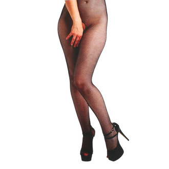 Collants PAMELA MANN - Fishnet Crotchless - Noir, PAMELA MANN