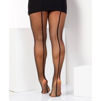 Collants PAMELA MANN - Fishnet Seamed - Blk / Blk, PAMELA MANN