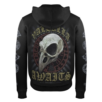 Sweat à capuche pour hommes VICTORY OR VALHALLA - CROW SKULL, VICTORY OR VALHALLA