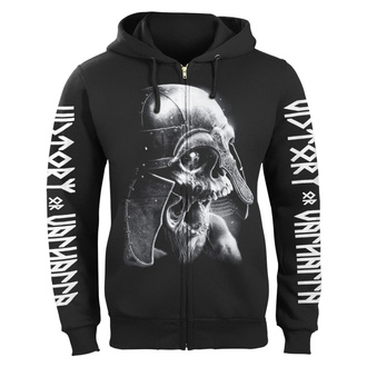 sweat-shirt avec capuche pour hommes - VIKING SKULL - VICTORY OR VALHALLA, VICTORY OR VALHALLA