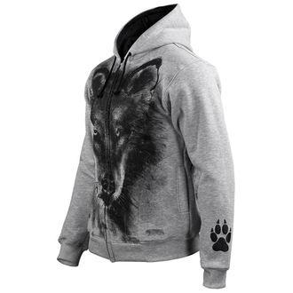 sweat-shirt avec capuche pour hommes - Wolf - ALISTAR