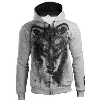 sweat-shirt avec capuche pour hommes - Wolf - ALISTAR, ALISTAR