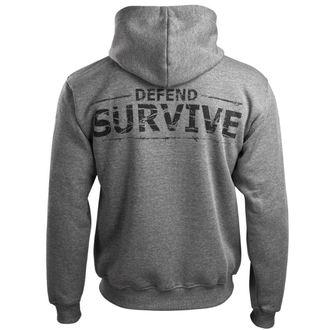 sweat-shirt avec capuche pour hommes - Zombie Defand Surive - ALISTAR, ALISTAR