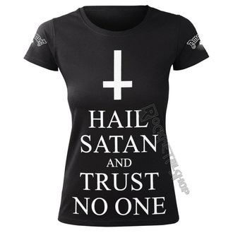 t-shirt hardcore pour femmes - HAIL SATAN AND TRUST NO ONE - AMENOMEN, AMENOMEN
