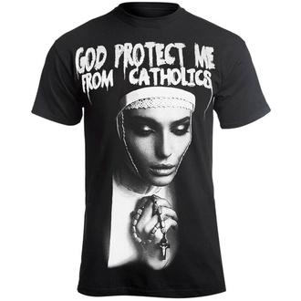 t-shirt hardcore pour hommes - GOD PROTECT ME FROM CATHOLICS - AMENOMEN, AMENOMEN