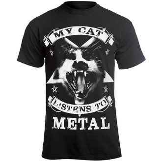 t-shirt hardcore pour hommes - MY CAT LISTENS TO METAL - AMENOMEN, AMENOMEN