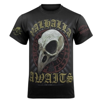 T-shirt pour hommes VICTORY OR VALHALLA - CROW SKULL - VOV025KM