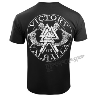 t-shirt pour hommes - VIKING SKULL - VICTORY OR VALHALLA, VICTORY OR VALHALLA