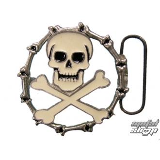 boucle pour peau ceinture Crâne 35