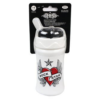 Bouteille pour enfants (340ml) ROCK STAR BABY - Heart & Wings, ROCK STAR BABY