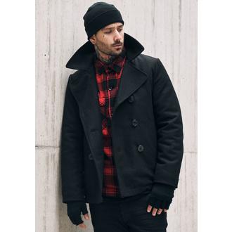 manteau pour hommes d`hiver Brandit - Pea Coat - Noire, BRANDIT