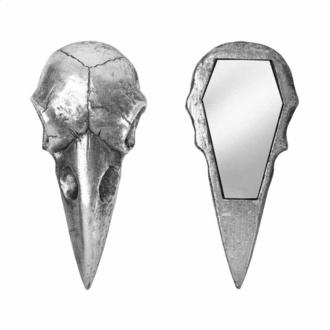 Décoration (miroir) ALCHEMY GOTHIC - Raven Skull - Argent, ALCHEMY GOTHIC