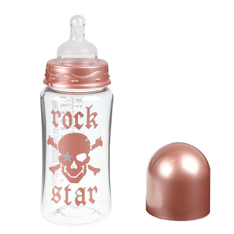Biberon ROCK STAR BABY - ROSE PIRAT 300ml, ROCK STAR BABY