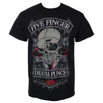 T-shirt Five Finger Death Punch - Wicked - Noir - ROCK OFF, ROCK OFF, Five Finger Death Punch