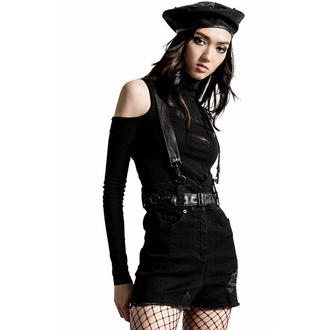 Shorts pour femmes KILLSTAR - Rebel Heart Suspender - Noir, KILLSTAR