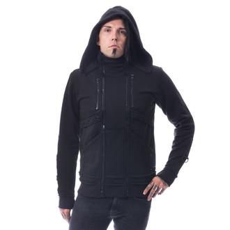 sweat-shirt avec capuche pour hommes - RECAL - CHEMICAL BLACK, CHEMICAL BLACK