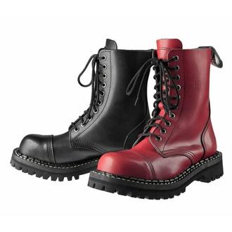 Bottes STEADY´S - 10 trous - Noir rouge, STEADY´S