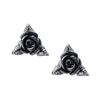 Boucles d'oreilles ALCHEMY GOTHIC - Ring O' Roses - Étain, ALCHEMY GOTHIC
