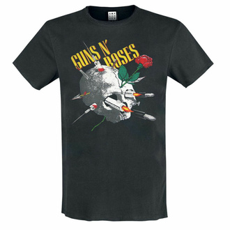 t-shirt pour homme Guns N' Roses - NEEDLE SKULL - CHARCOAL - AMPLIFIED, AMPLIFIED, Guns N' Roses