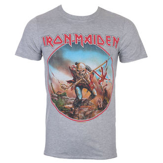 T-shirt hommes Iron Maiden - Trooper - gris - ROCK OFF, ROCK OFF, Iron Maiden