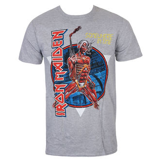 T-shirt hommes Iron Maiden - Somewhere In Time - gris - ROCK OFF, ROCK OFF, Iron Maiden
