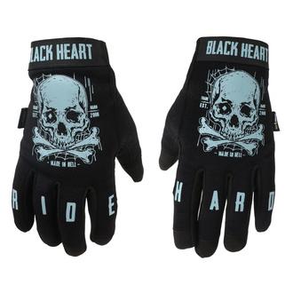 Gants BLACK HEART - Moto W-TEC Web Skull - NOIR, BLACK HEART