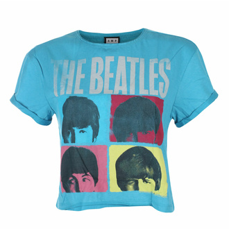 T-shirt pour femmes THE BEATLES - HARD DAY'S NIGHT - TEAL PANTHER - AMPLIFIED, AMPLIFIED, Beatles
