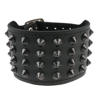 Bracelet 4 Cônes, BLACK & METAL
