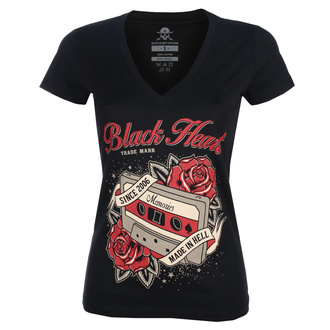 tee-shirt street pour femmes - OLD SCHOOL V - BLACK HEART, BLACK HEART