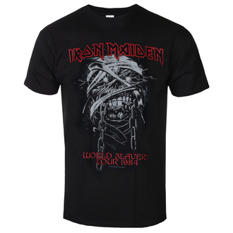 tee-shirt métal pour hommes Iron Maiden - World Slavery 1984 Tour - ROCK OFF, ROCK OFF, Iron Maiden