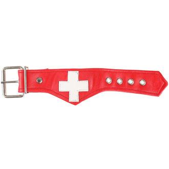 Bracelet Cross - blanc / rouge