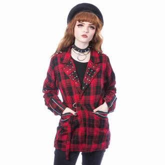 Veste pour femme (blazer) CHEMICAL BLACK - SARDONYX - TARTAN ROUGE, CHEMICAL BLACK