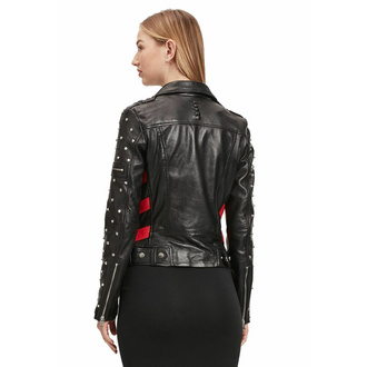 Veste (de motard) pour femme 2 G2WTaly - SF LAROXV - Noir rouge, NNM