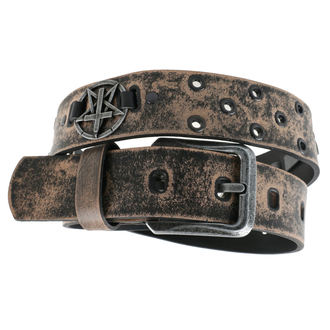 Ceinture Croix Pentacle - brown, Leather & Steel Fashion