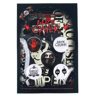 Badges Alice Cooper - RAZAMATAZ, RAZAMATAZ, Alice Cooper