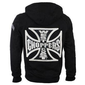 sweat-shirt avec capuche pour hommes - CROSS PANEL - West Coast Choppers, West Coast Choppers