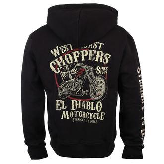 sweat-shirt avec capuche pour hommes - EL DIABLO - West Coast Choppers, West Coast Choppers