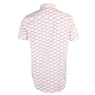 Chemise pour hommes Queen - Logo - WHT - ROCK OFF, ROCK OFF, Queen