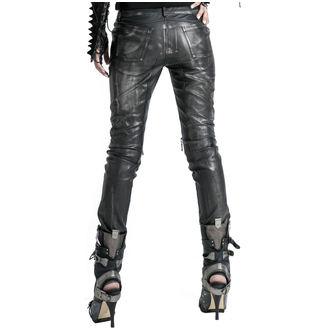 Pantalon femmes PUNK RAVE - Therion - noir / argent, PUNK RAVE
