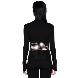 T-shirt à manches longues KILLSTAR pour femmes - SIndi Fishnet Top, KILLSTAR