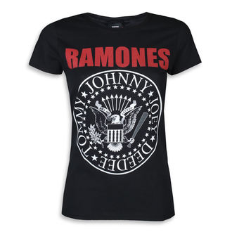 tee-shirt métal pour femmes Ramones - RED TEXT SEAL LOGO - PLASTIC HEAD, PLASTIC HEAD, Ramones