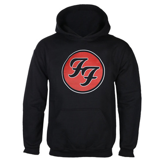 Sweat à capuche pour hommes FOO FIGHTERS - RED CIRCULAR LOGO - NOIR - GOT TO HAVE IT, GOT TO HAVE IT, Foo Fighters