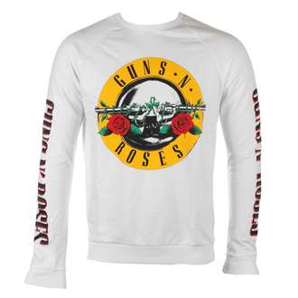 Sweat-shirt pour hommes Guns N' Roses - Classic & Text Logos - WHT - ROCK OFF - GNRSWT04MW