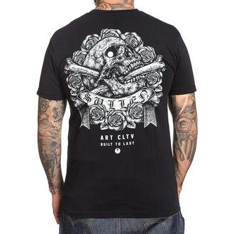 t-shirt hardcore pour hommes - STIPPLE SKULL - SULLEN - SCM1411_BK