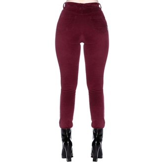 Pantalon pour femmes KILLSTAR - Stroke Of Midnight - Velours ROUGE SANG, KILLSTAR