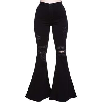 pantalons pour femmes KILLSTAR - Sukie Denim Flares - Noir, KILLSTAR