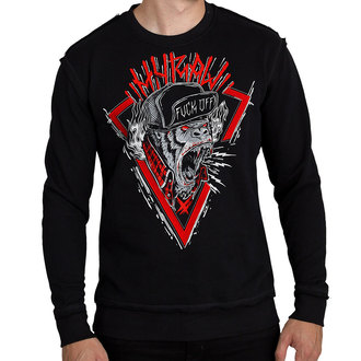 sweat-shirt sans capuche pour hommes - SWEAT HARDCORE MONKEY ROUGE - HYRAW, HYRAW